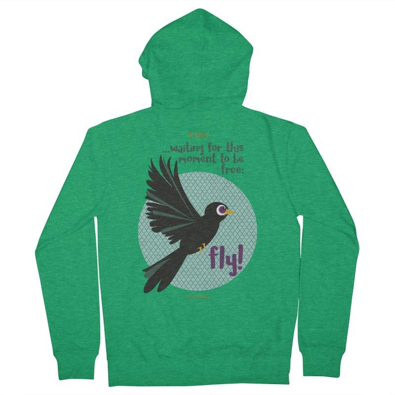 BlackBird Women's Zip-Up Hoody by BrocoliArtprint