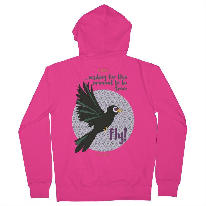 BlackBird Men's Zip-Up Hoody by BrocoliArtprint