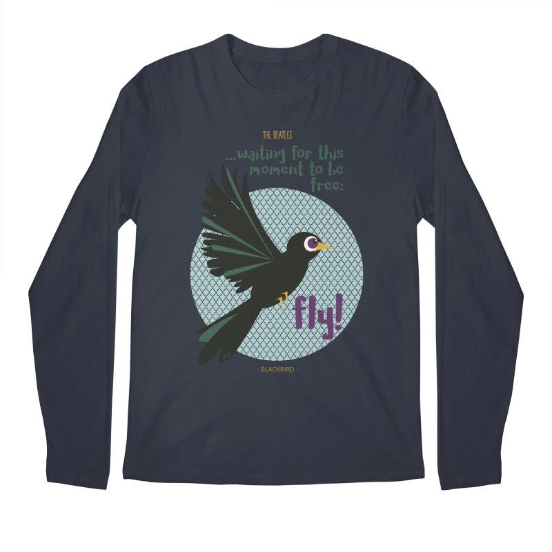 BlackBird Men's Longsleeve T-Shirt by BrocoliArtprint