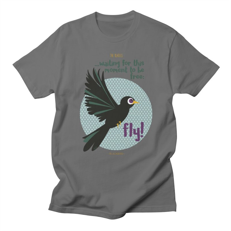 BlackBird Men's T-Shirt by BrocoliArtprint