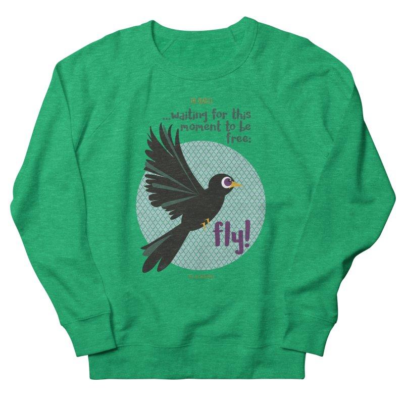 BlackBird Women's Sweatshirt by BrocoliArtprint