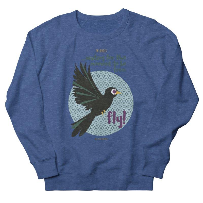 BlackBird Men's Sweatshirt by BrocoliArtprint