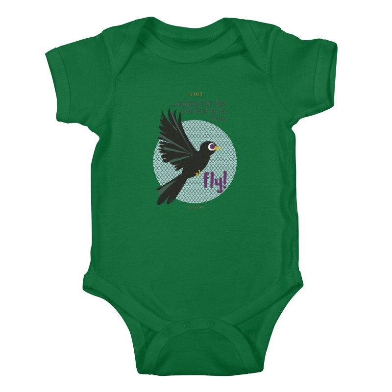 BlackBird Kids Baby Bodysuit by BrocoliArtprint
