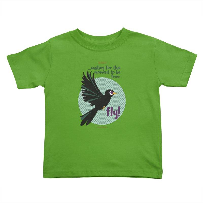 BlackBird Kids Toddler T-Shirt by BrocoliArtprint