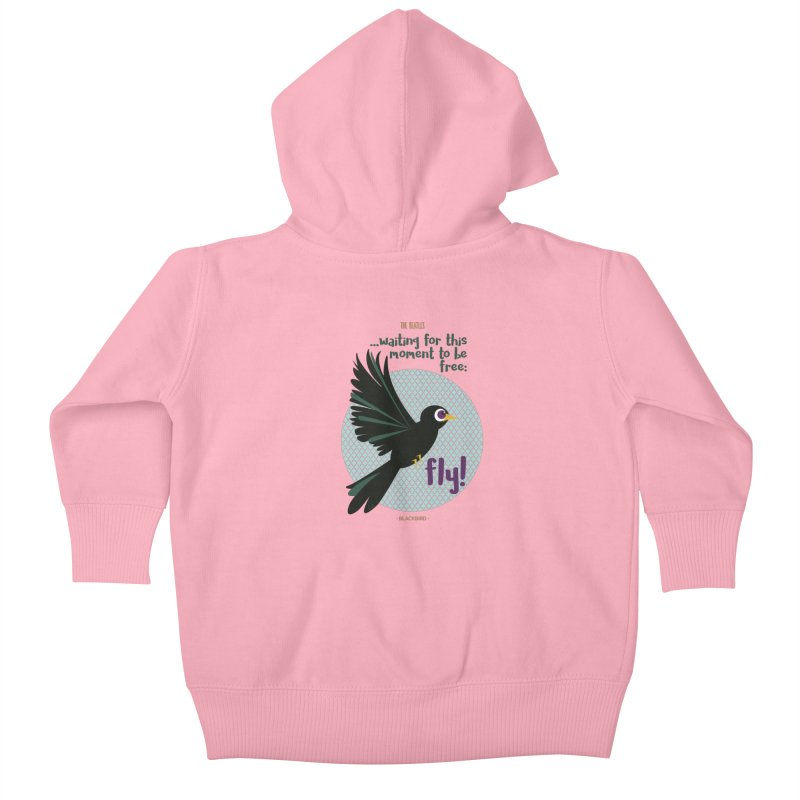 BlackBird Kids Baby Zip-Up Hoody by BrocoliArtprint