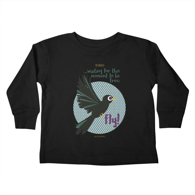BlackBird Kids Toddler Longsleeve T-Shirt by BrocoliArtprint