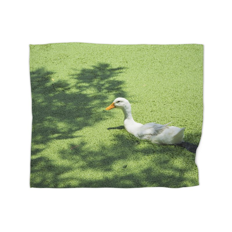 Duck over green peas Home Blanket by BrocoliArtprint