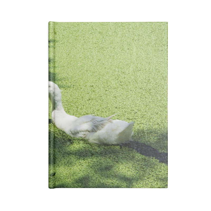 Duck over green peas Accessories Notebook by BrocoliArtprint