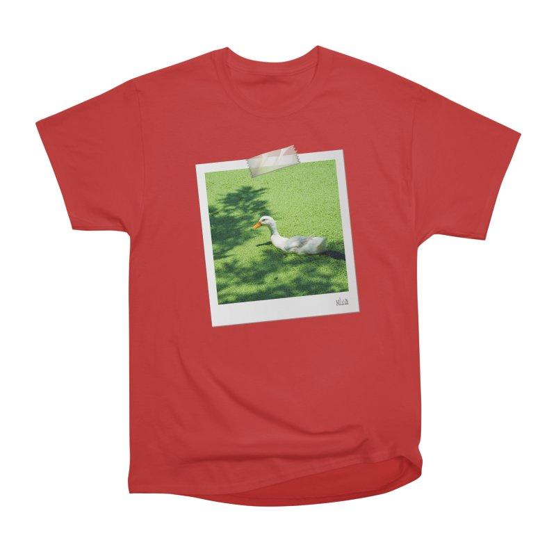 Duck over green peas Men's T-Shirt by BrocoliArtprint