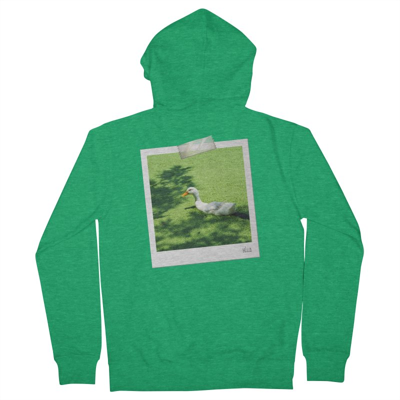 Duck over green peas Women's Zip-Up Hoody by BrocoliArtprint
