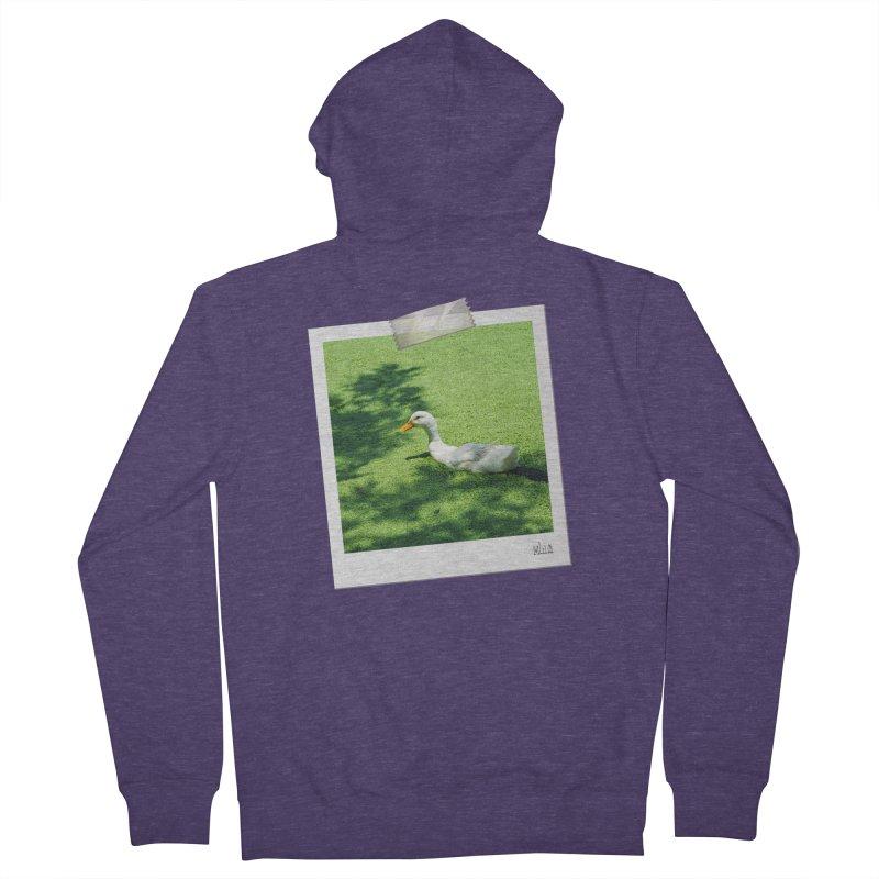 Duck over green peas Men's Zip-Up Hoody by BrocoliArtprint