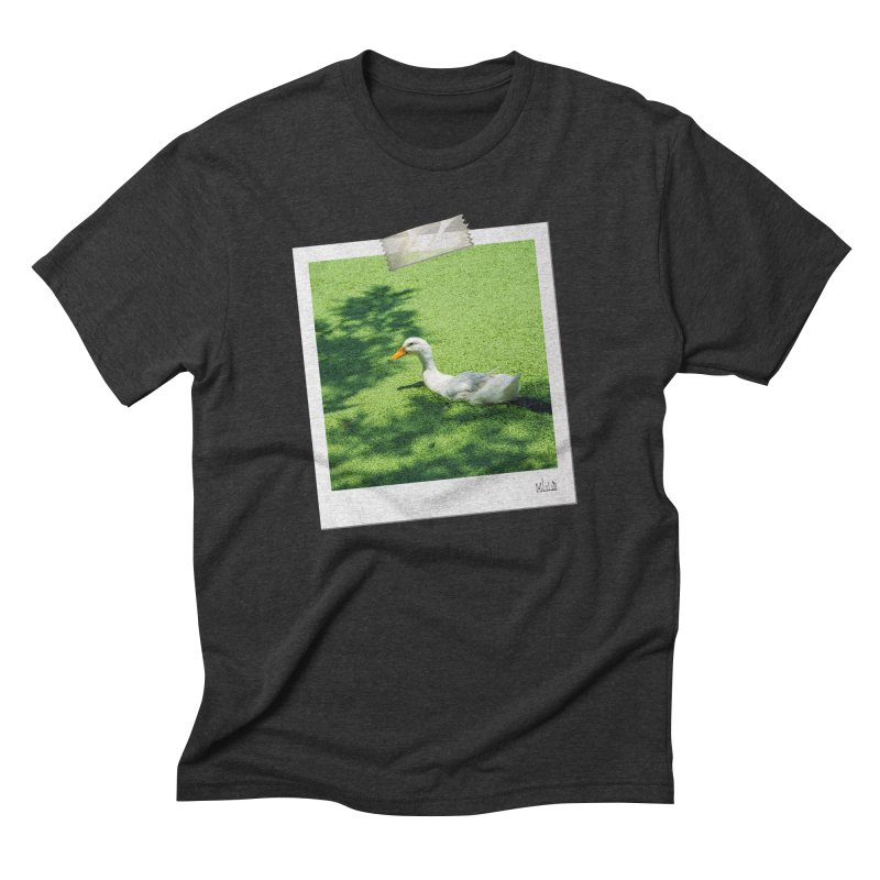 Duck over green peas Men's T-Shirt by BrocoliArtprint