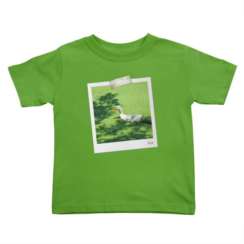Duck over green peas Kids Toddler T-Shirt by BrocoliArtprint