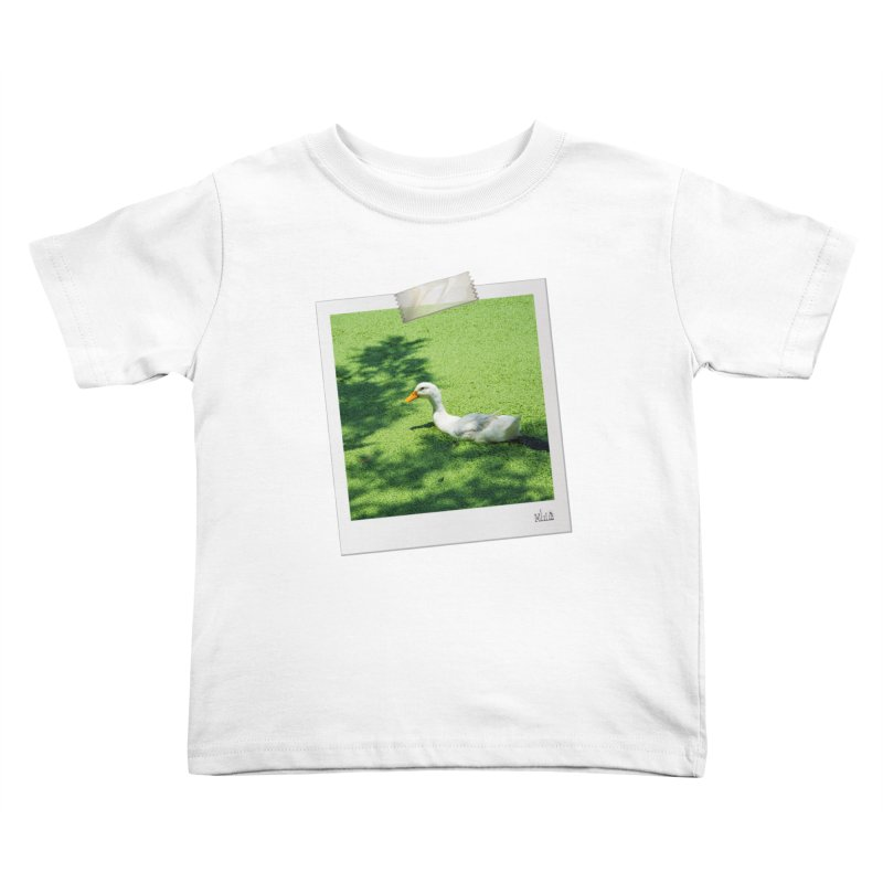 Duck over green peas Kids Toddler T-Shirt by BrocoliArtprint