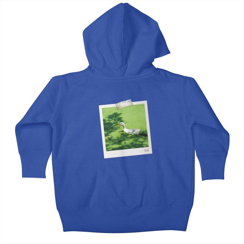 Duck over green peas Kids Baby Zip-Up Hoody by BrocoliArtprint