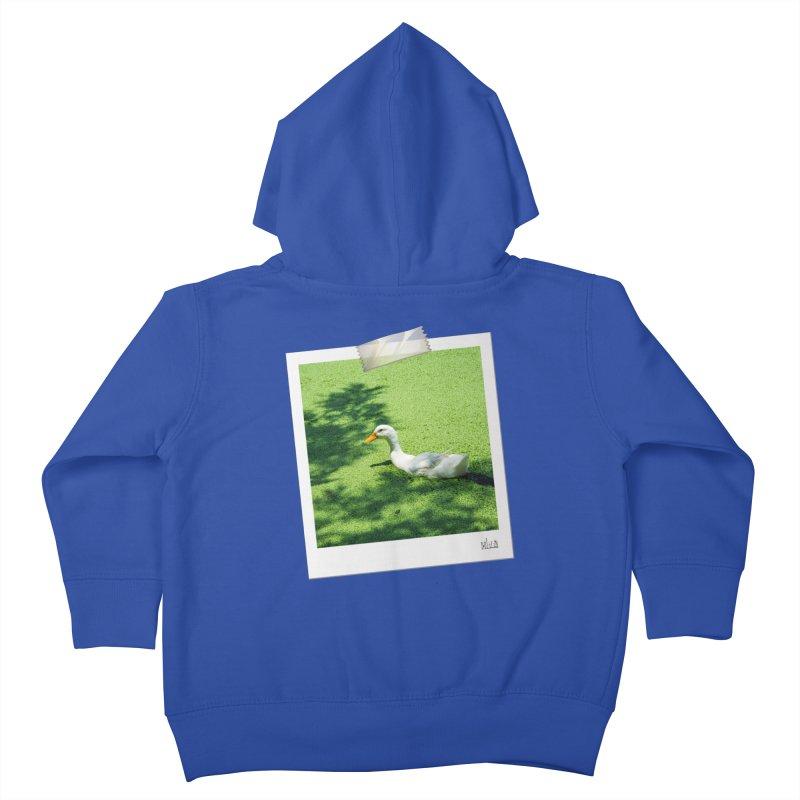 Duck over green peas Kids Toddler Zip-Up Hoody by BrocoliArtprint