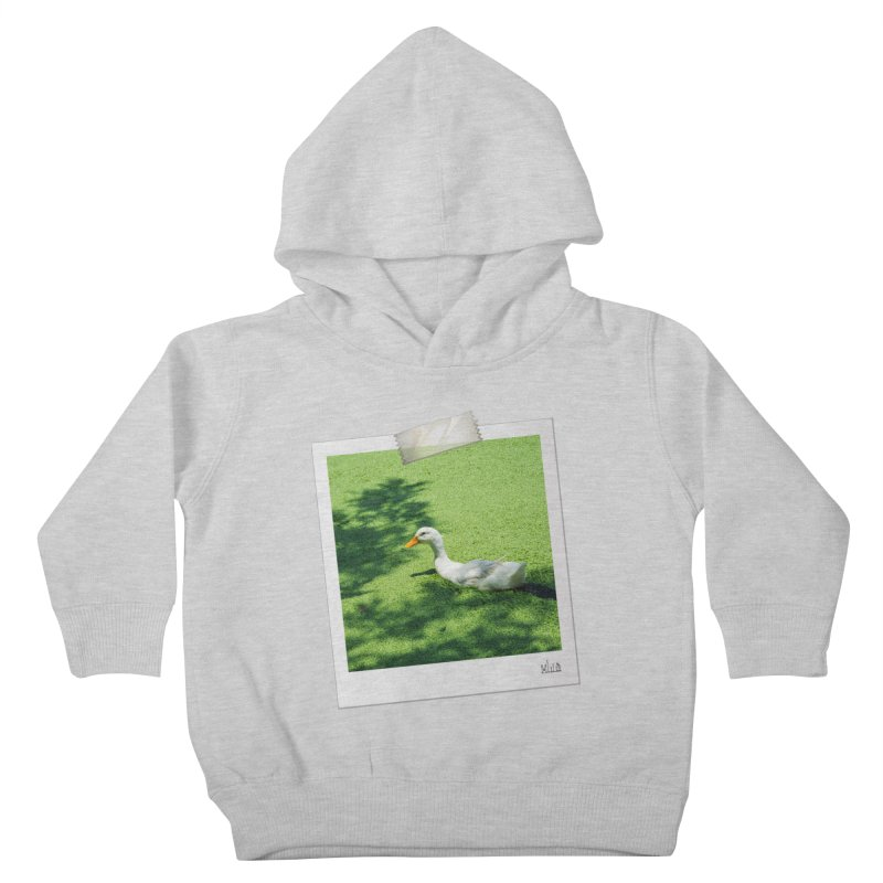 Duck over green peas Kids Toddler Pullover Hoody by BrocoliArtprint