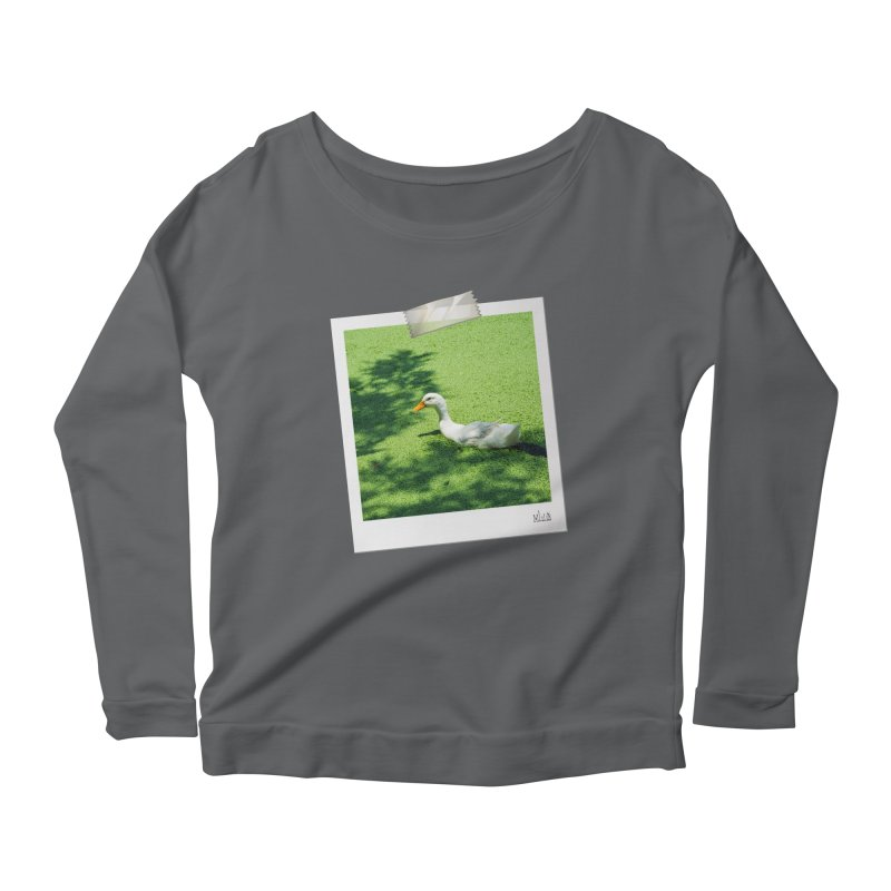 Duck over green peas Women's Longsleeve T-Shirt by BrocoliArtprint
