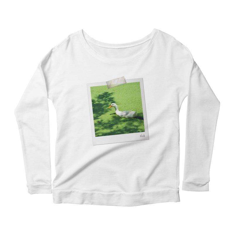 Duck over green peas Women's Longsleeve T-Shirt by BrocoliArtprint