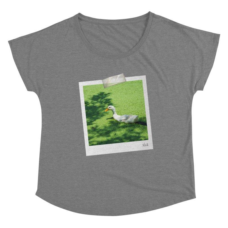 Duck over green peas Women's Scoop Neck by BrocoliArtprint