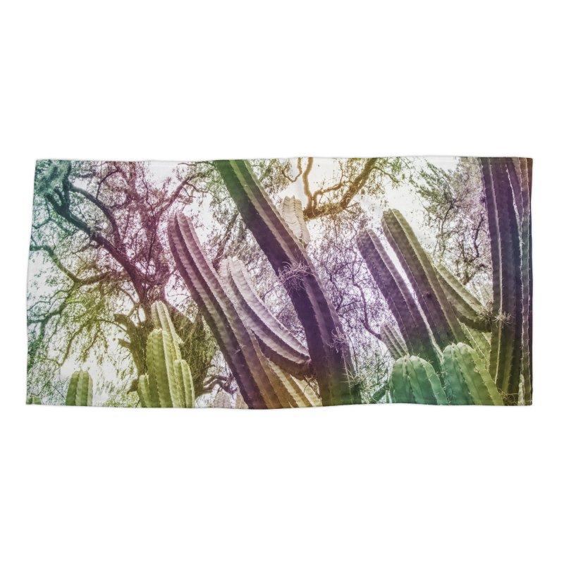 Rainbow Cactus Accessories Beach Towel by BrocoliArtprint