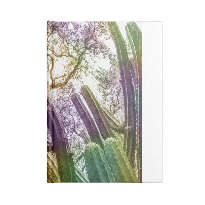 Rainbow Cactus Accessories Notebook by BrocoliArtprint
