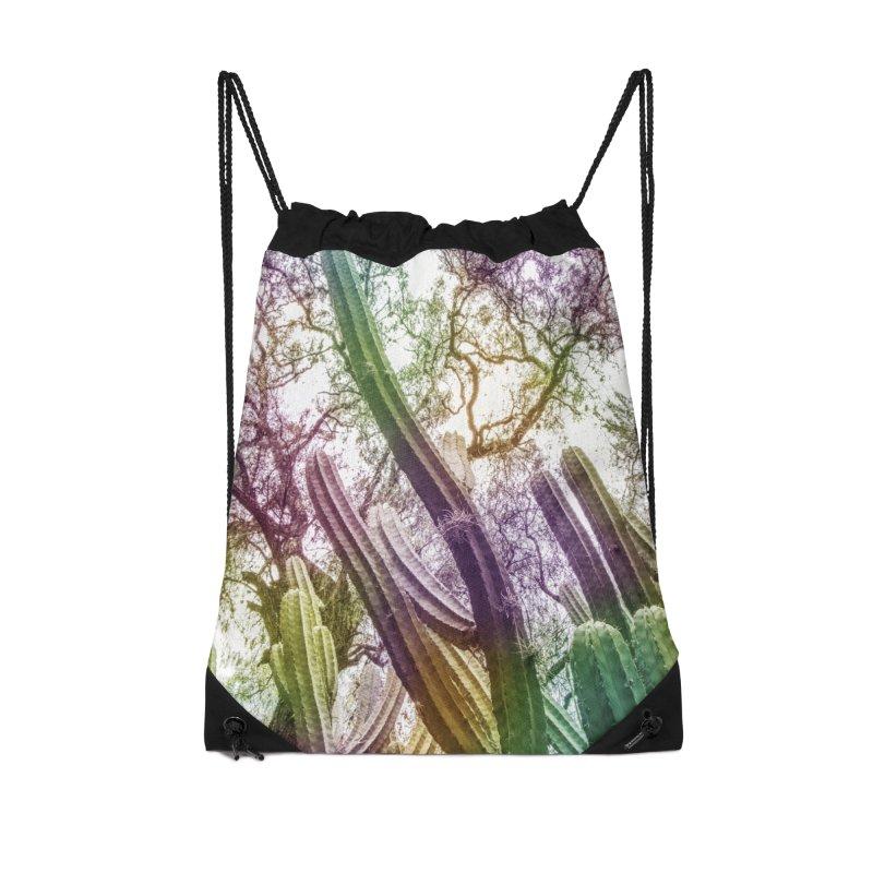 Rainbow Cactus Accessories Bag by BrocoliArtprint