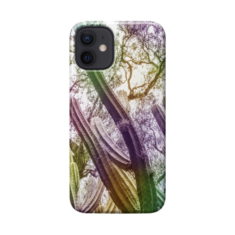 Rainbow Cactus Accessories Phone Case by BrocoliArtprint
