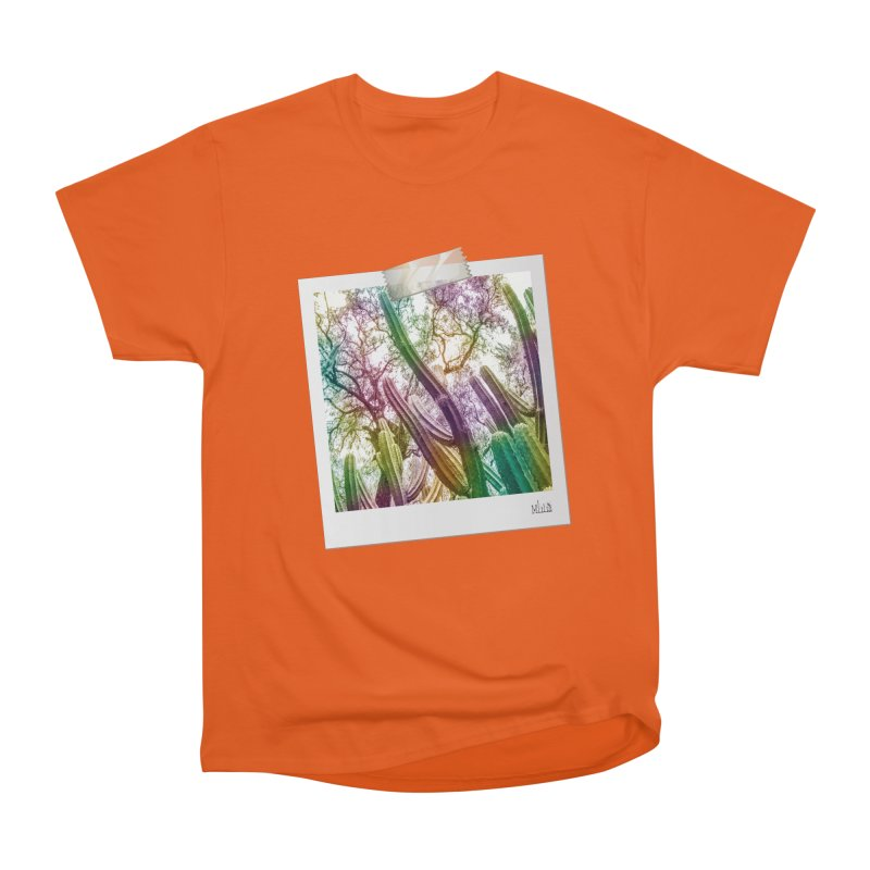 Rainbow Cactus Men's T-Shirt by BrocoliArtprint