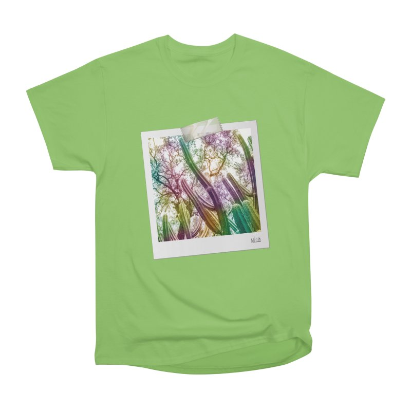 Rainbow Cactus Men's T-Shirt by BrocoliArtprint