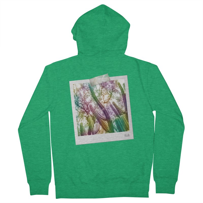 Rainbow Cactus Women's Zip-Up Hoody by BrocoliArtprint
