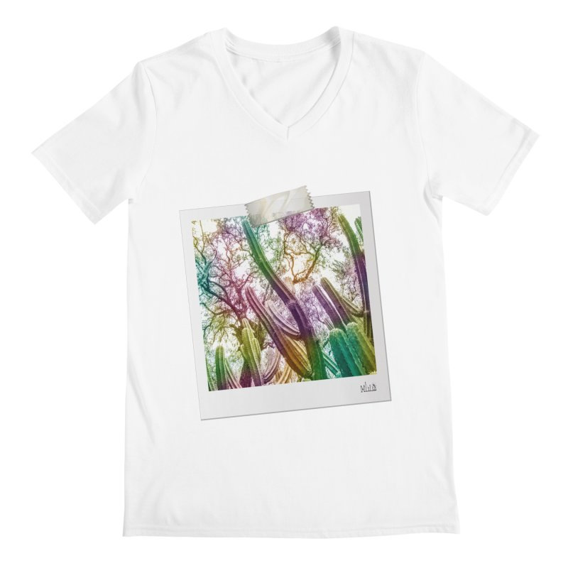Rainbow Cactus Men's V-Neck by BrocoliArtprint