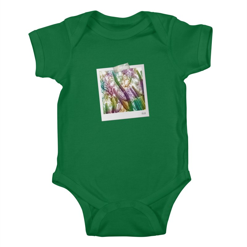 Rainbow Cactus Kids Baby Bodysuit by BrocoliArtprint
