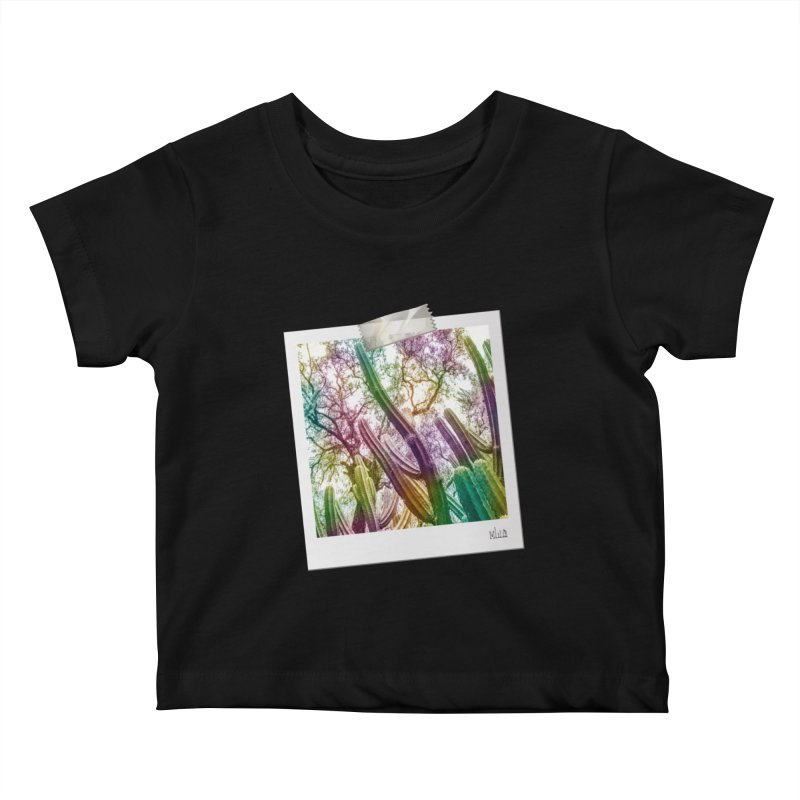 Rainbow Cactus Kids Baby T-Shirt by BrocoliArtprint