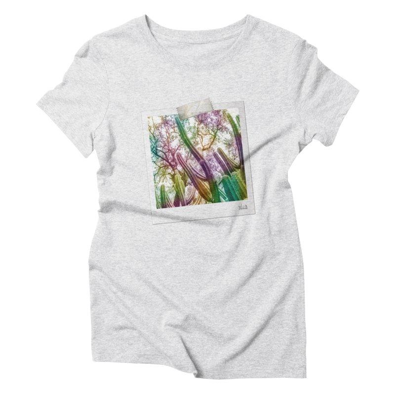 Rainbow Cactus Women's T-Shirt by BrocoliArtprint