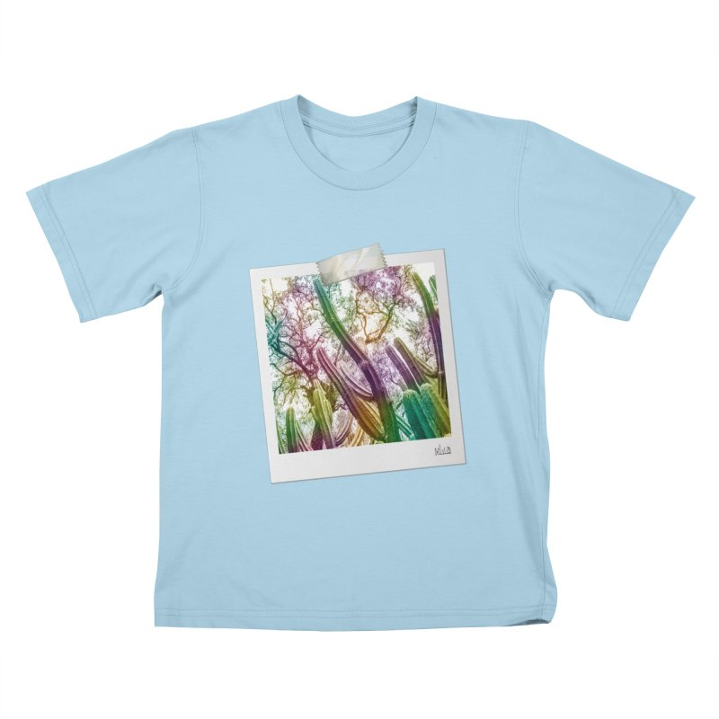 Rainbow Cactus Kids T-Shirt by BrocoliArtprint