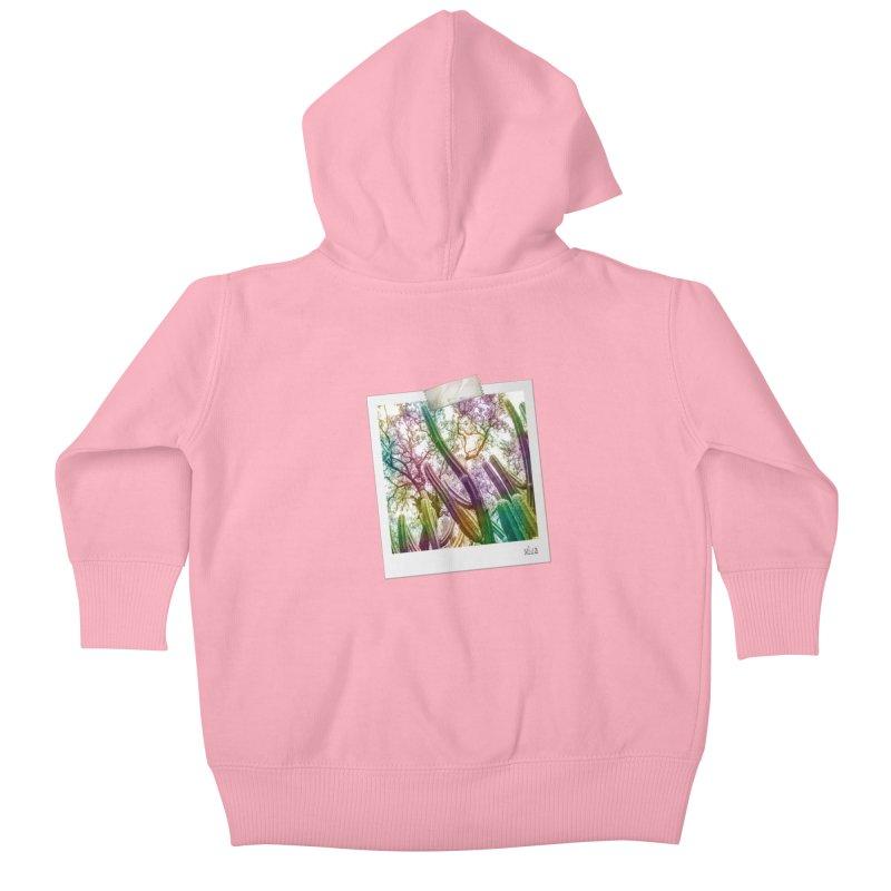 Rainbow Cactus Kids Baby Zip-Up Hoody by BrocoliArtprint