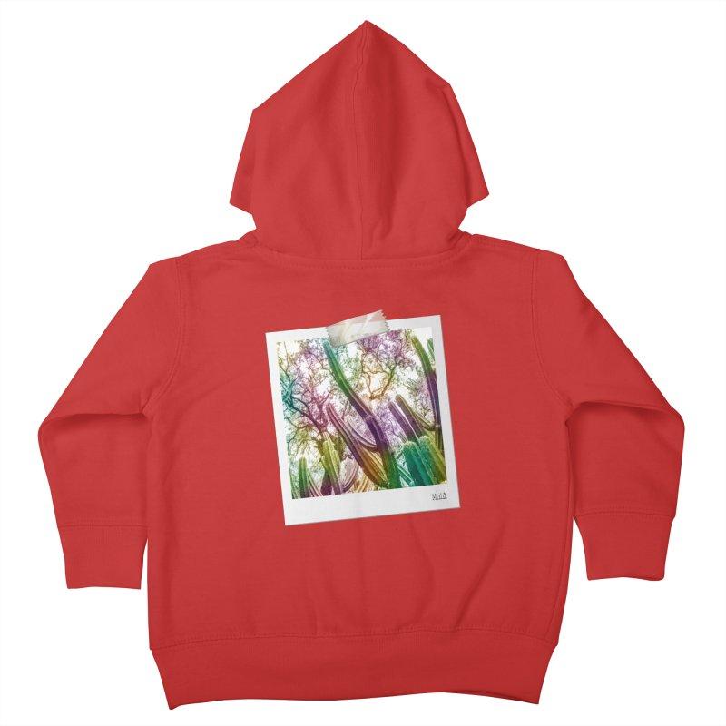 Rainbow Cactus Kids Toddler Zip-Up Hoody by BrocoliArtprint
