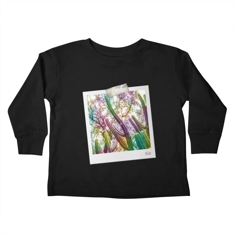 Rainbow Cactus Kids Toddler Longsleeve T-Shirt by BrocoliArtprint