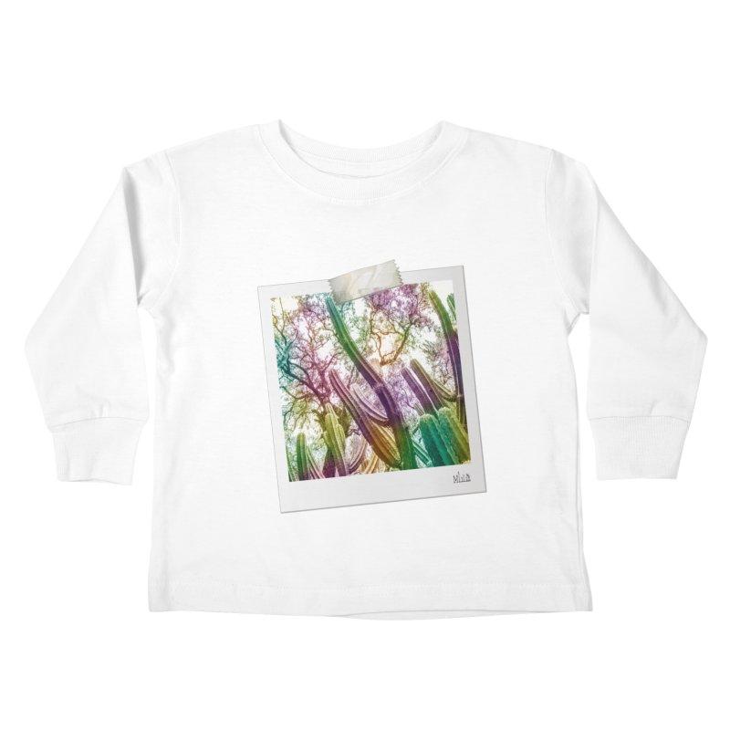 Rainbow Cactus Kids Toddler Longsleeve T-Shirt by BrocoliArtprint