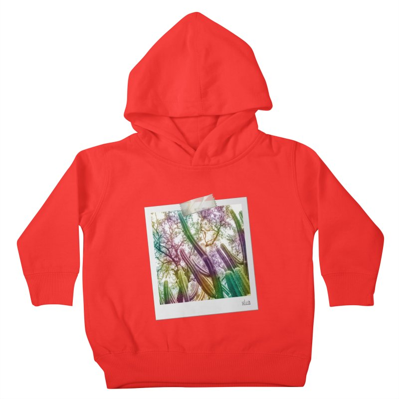 Rainbow Cactus Kids Toddler Pullover Hoody by BrocoliArtprint