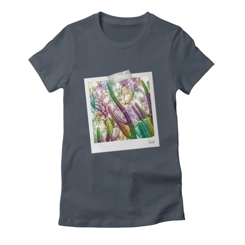 Rainbow Cactus Women's T-Shirt by BrocoliArtprint