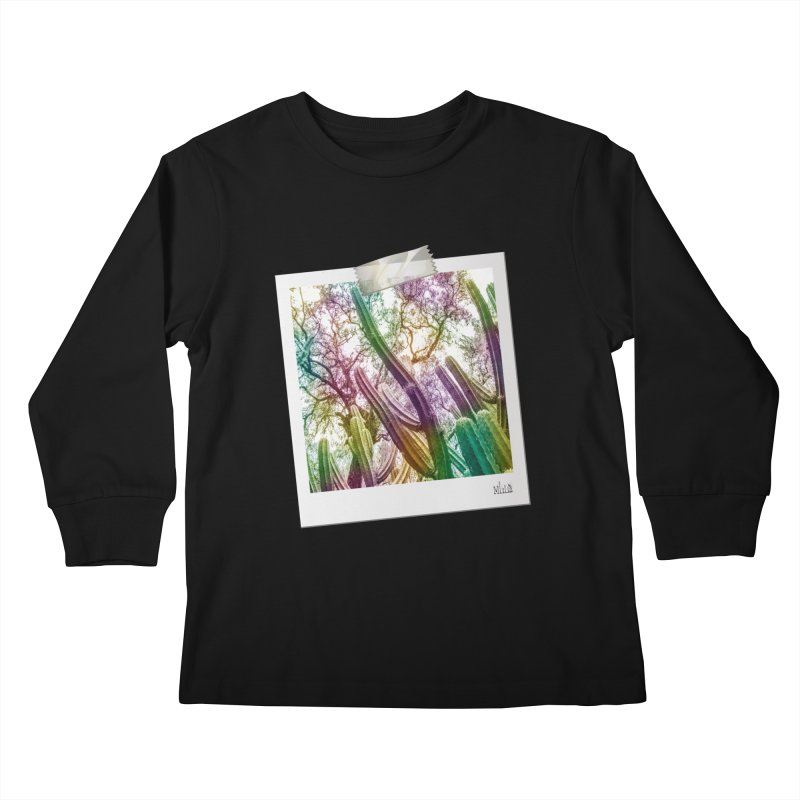 Rainbow Cactus Kids Longsleeve T-Shirt by BrocoliArtprint