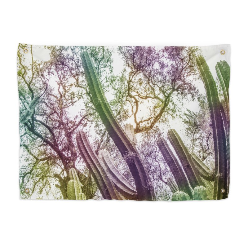 Rainbow Cactus Home Tapestry by BrocoliArtprint