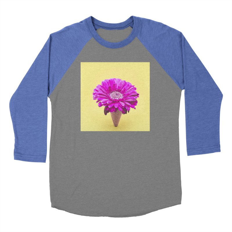 Flower Ice Cream Cone Women's Longsleeve T-Shirt by BrocoliArtprint