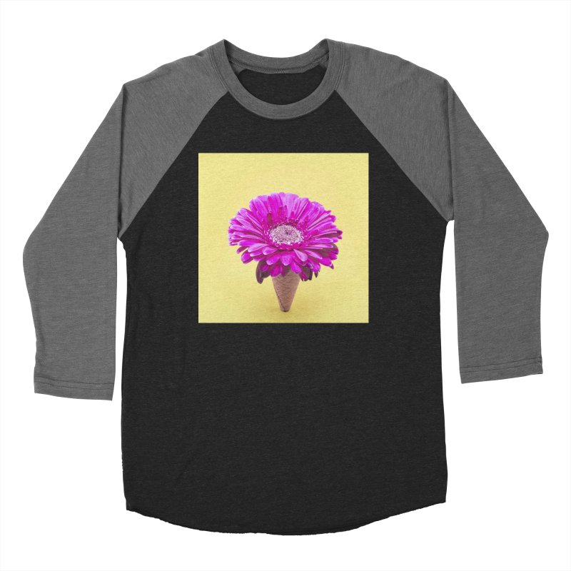 Flower Ice Cream Cone Men's Longsleeve T-Shirt by BrocoliArtprint