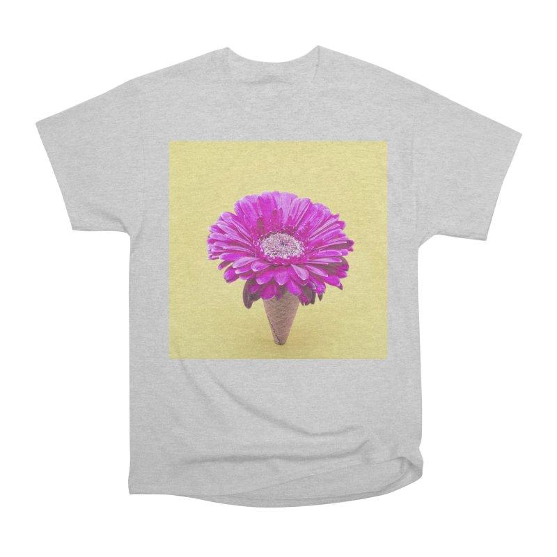 Flower Ice Cream Cone Men's T-Shirt by BrocoliArtprint