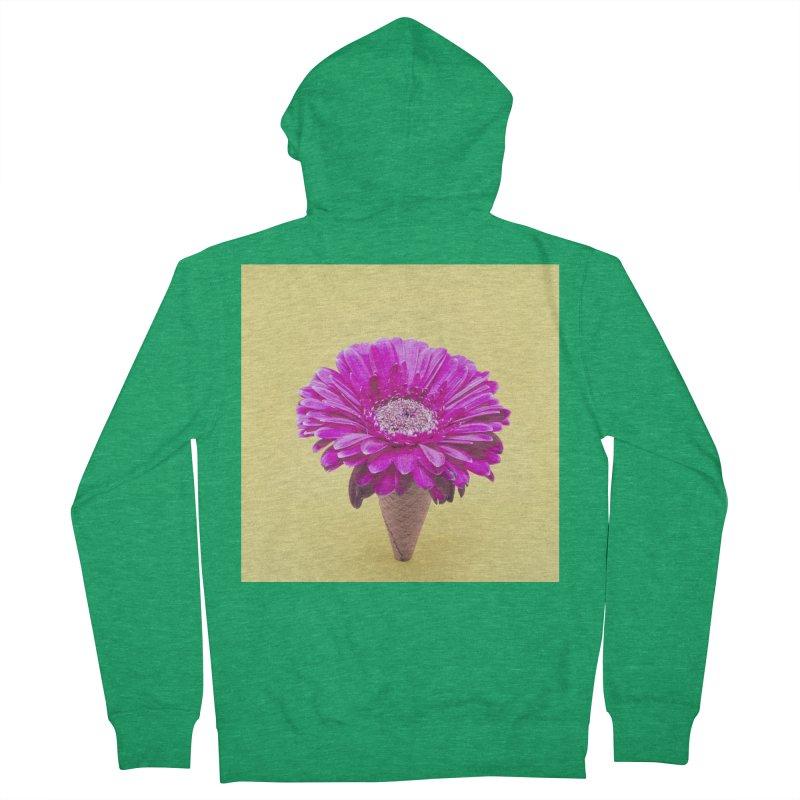 Flower Ice Cream Cone Women's Zip-Up Hoody by BrocoliArtprint