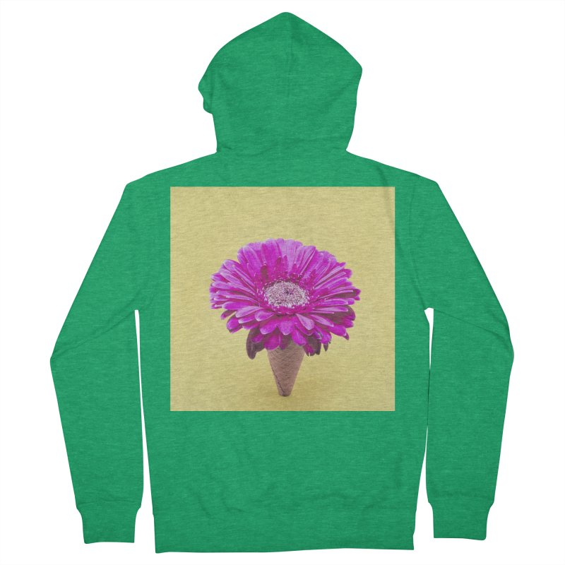 Flower Ice Cream Cone Men's Zip-Up Hoody by BrocoliArtprint