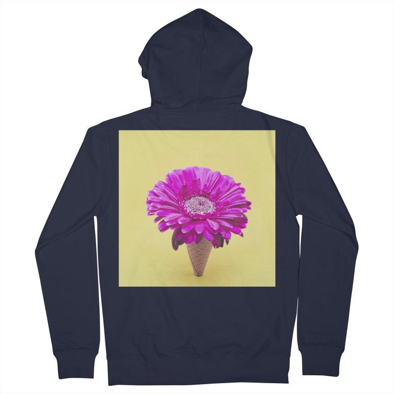 Flower Ice Cream Cone Men's Zip-Up Hoody by BrocoliArtprint